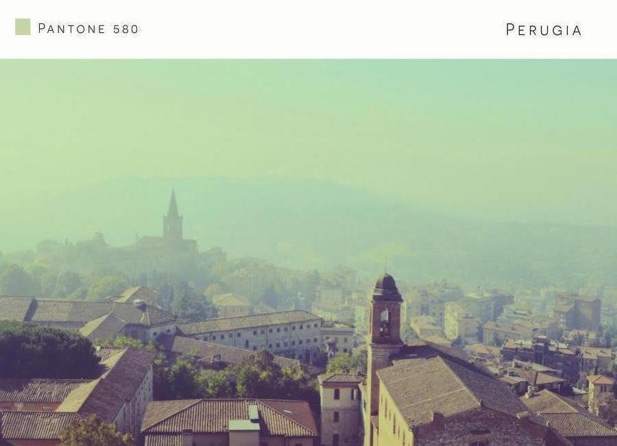 Perugia Pantone 580 Canvas Print