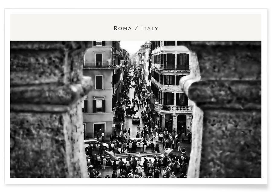 Noir & blanc, Rome, Roma B&W affiche