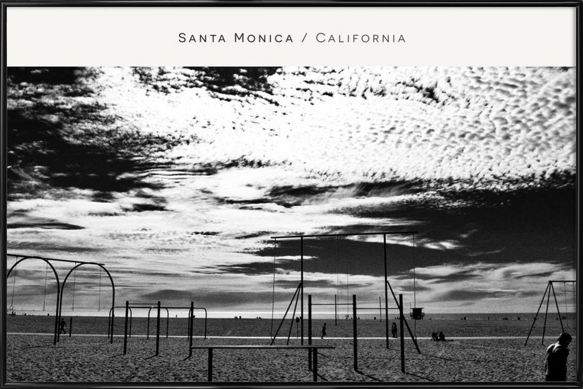 Santa Monica No. 2 B&W Framed Poster