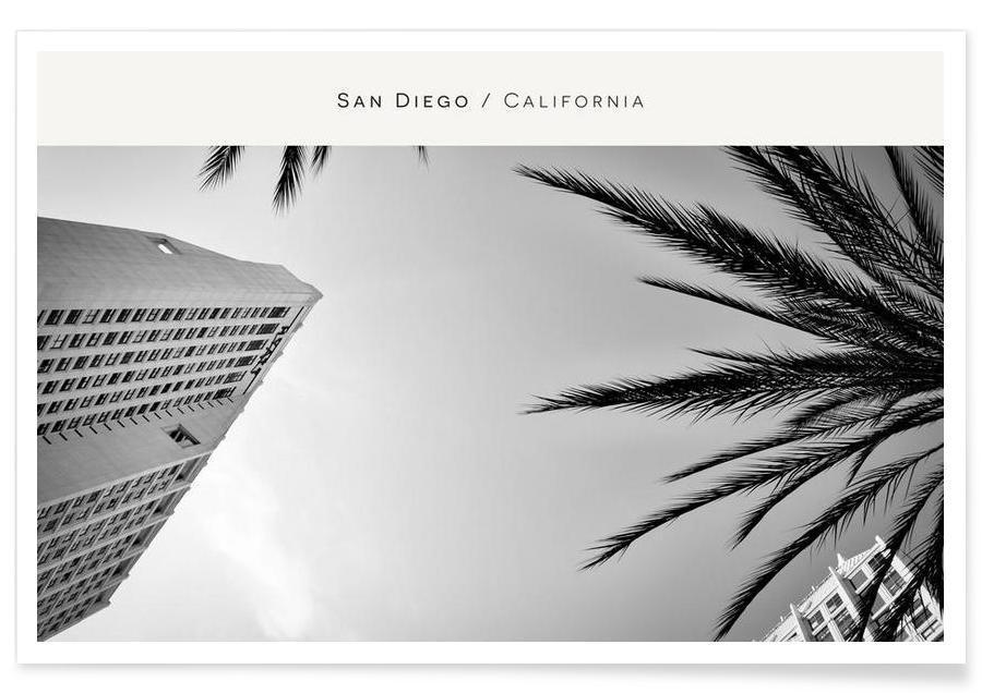 Détails architecturaux, Noir & blanc, San Diego B&W affiche
