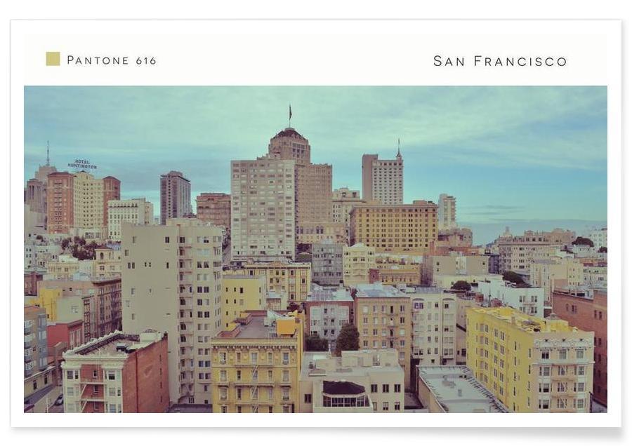 San Francisco, Gratte-ciels, San Francisco Pantone 616 affiche
