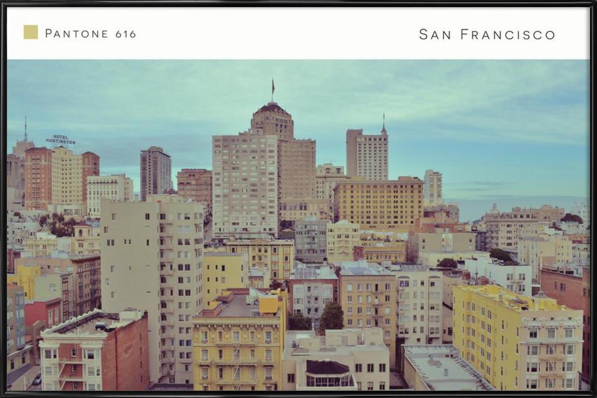 San Francisco Pantone 616 Framed Poster