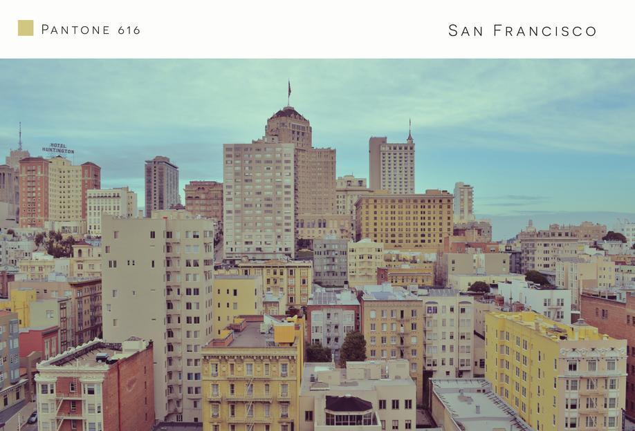 San Francisco Pantone 616 Aluminium Print