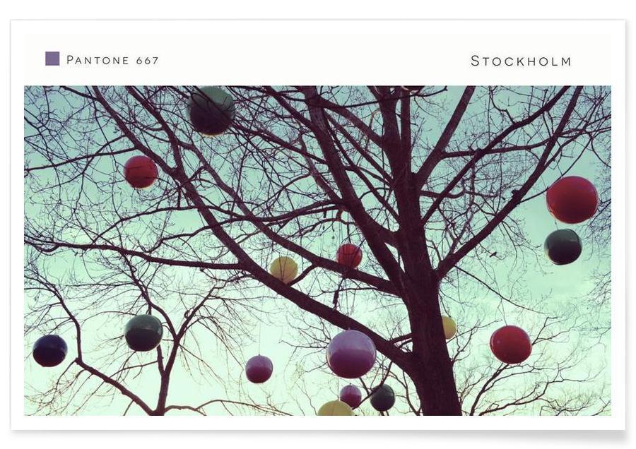 Arbres, Stockholm Pantone 667 affiche