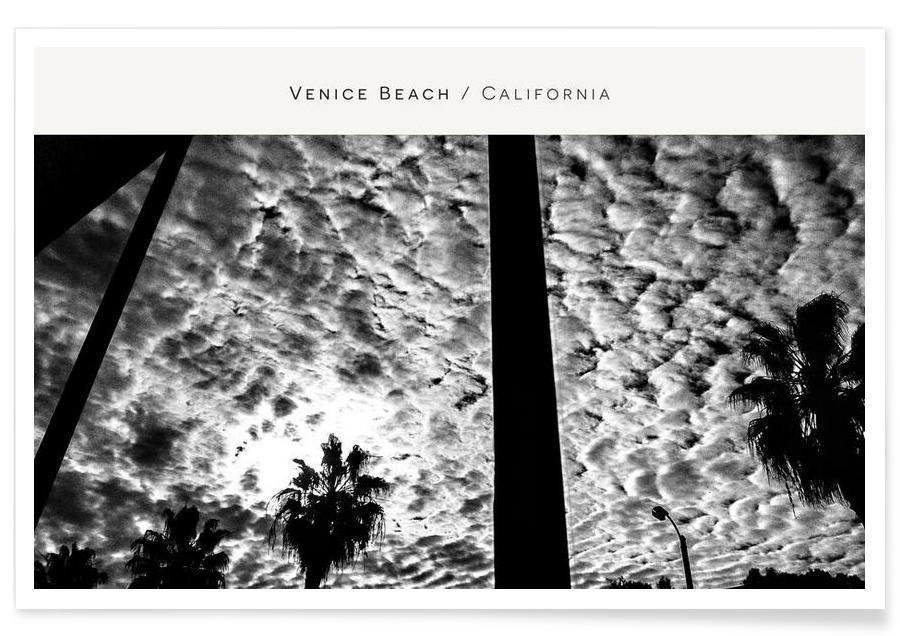 Ciels & nuages, Venice Beach B&W affiche