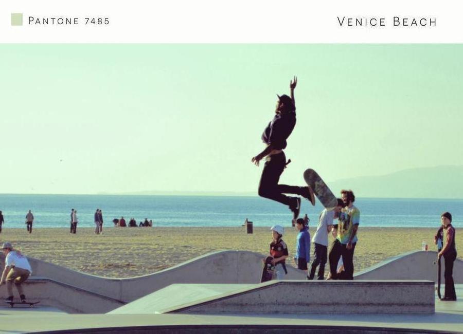 Venice Beach Pantone 7485 canvas doek