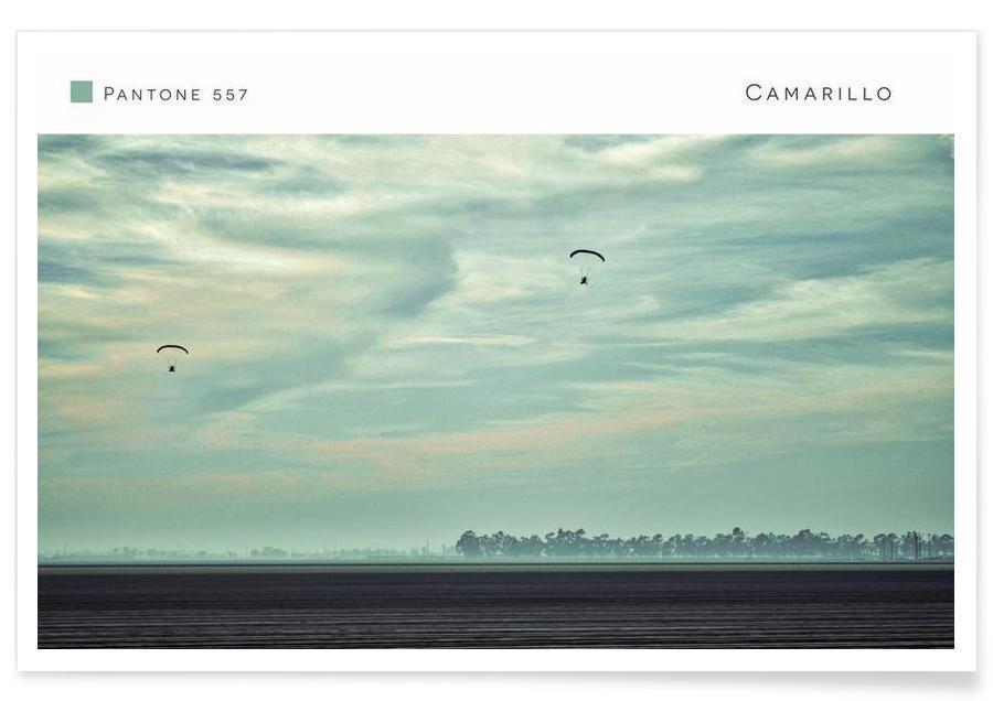 Ciels & nuages, Camarillo Pantone 557 affiche