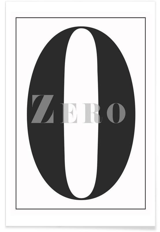 Zwart en wit, Cijfers, Numero 0 poster