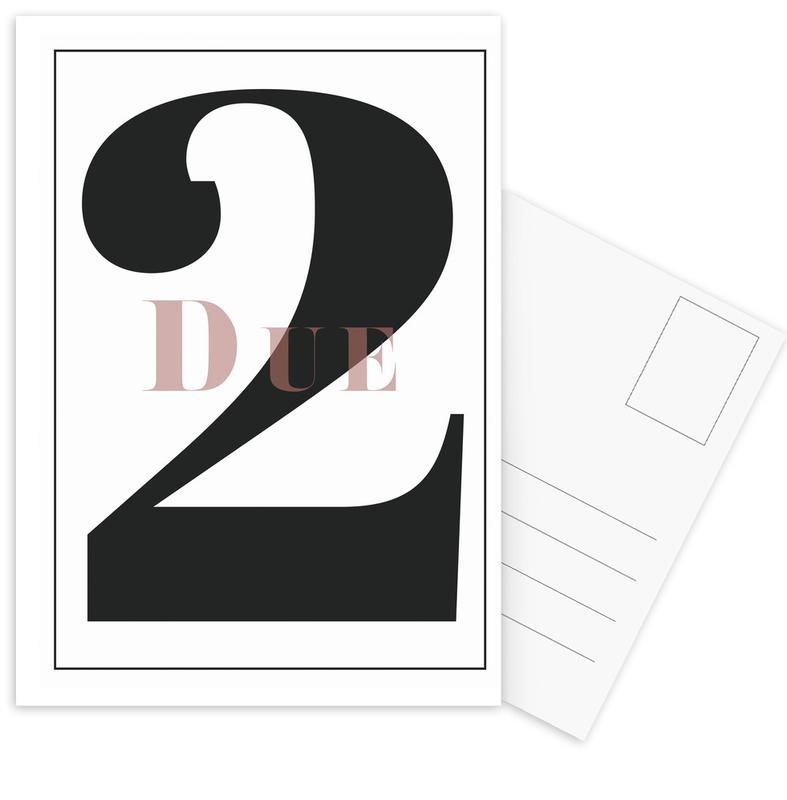 Numero 2 Postcard Set