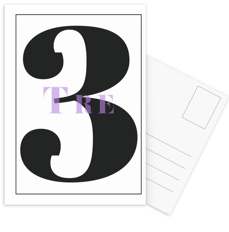 Numero 3 -Postkartenset
