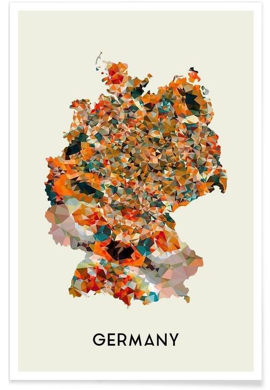 Cartes de pays, Germany affiche