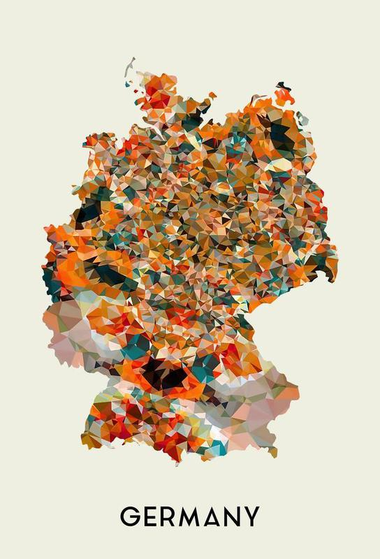 Germany Aluminium Print