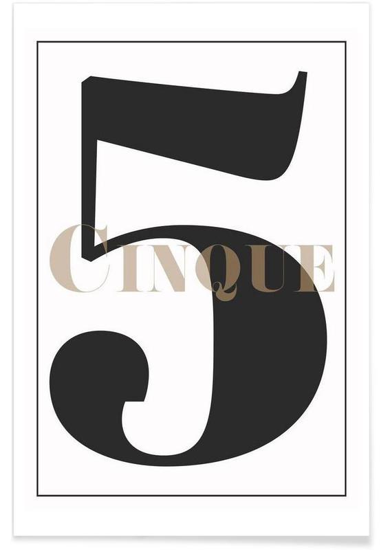 Sort & hvidt, Numre, Numero 5 Plakat