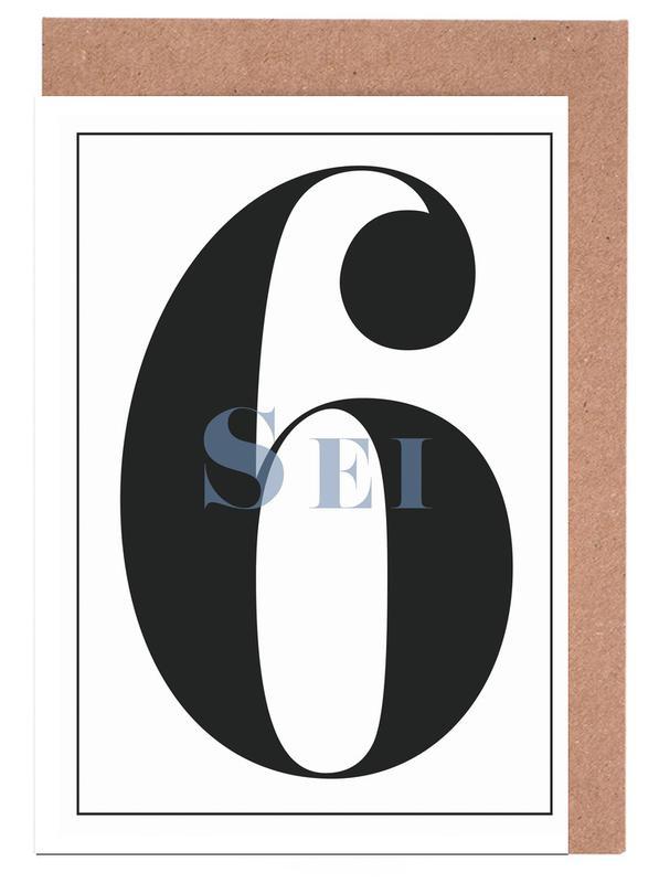 Numero 6 Greeting Card Set