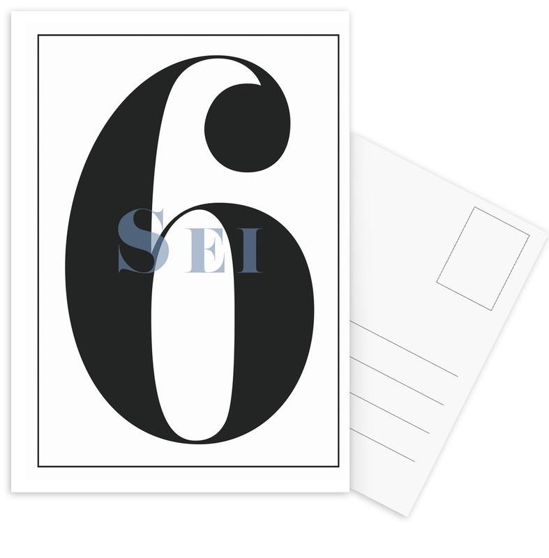 Numero 6 -Postkartenset