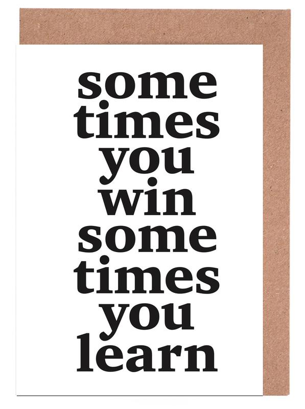 Schwarz & Weiß, Motivation, Zitate & Slogans, Sometimes you win -Grußkarten-Set