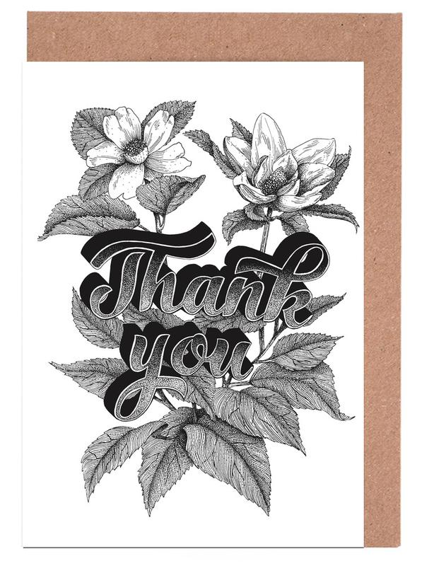 Thank you hand-lettering Greeting Card Set