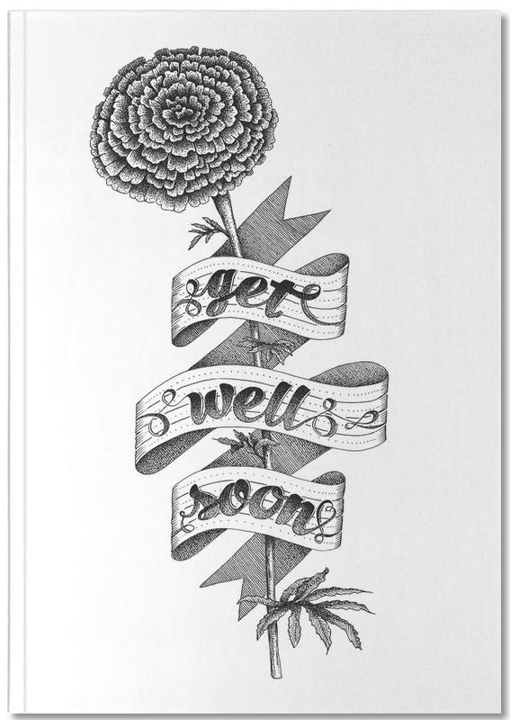 Get well soon hand-lettering Notebook