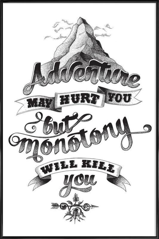 Adventure hand-lettering Framed Poster
