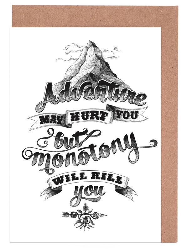 Adventure hand-lettering Greeting Card Set