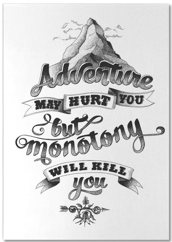Black & White, Quotes & Slogans, Adventure hand-lettering Notepad