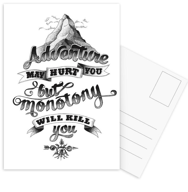 Adventure hand-lettering Postcard Set