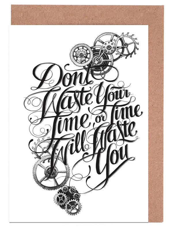 Don't waste hand-lettering Greeting Card Set