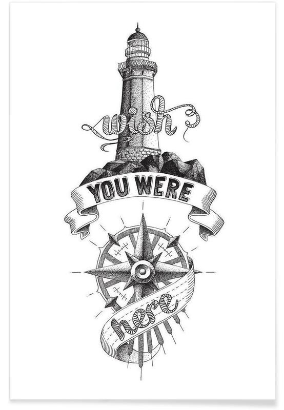 Wish you were here hand-lettering -Poster