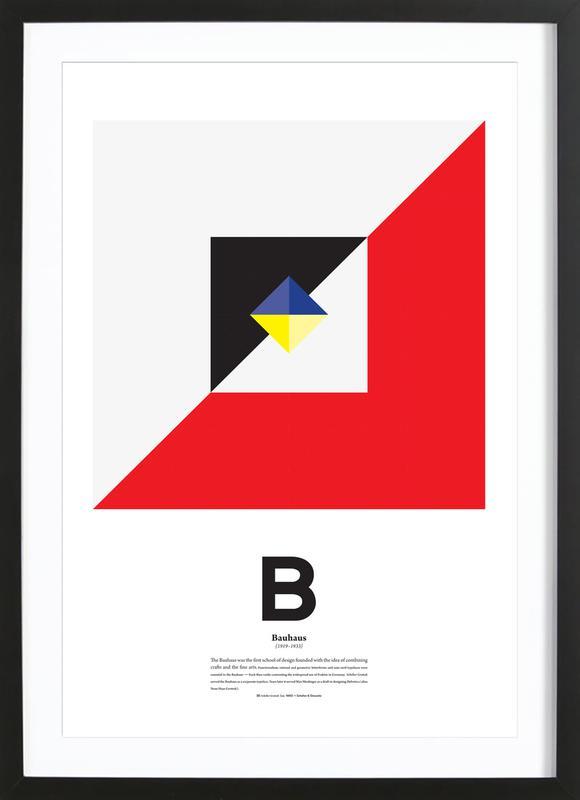 B - Bahaus Framed Print