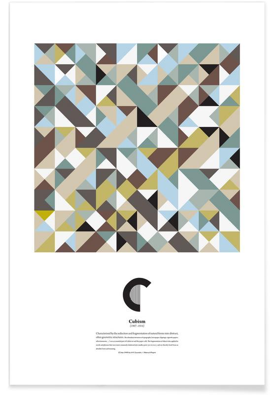 Alphabet & Buchstaben, C - Cubism -Poster