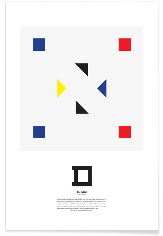 D - De Stijl -Poster