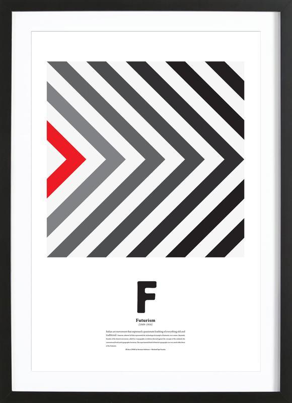 F - Futurism Framed Print