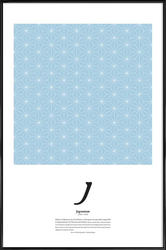 J - Japonism -Bild mit Kunststoffrahmen