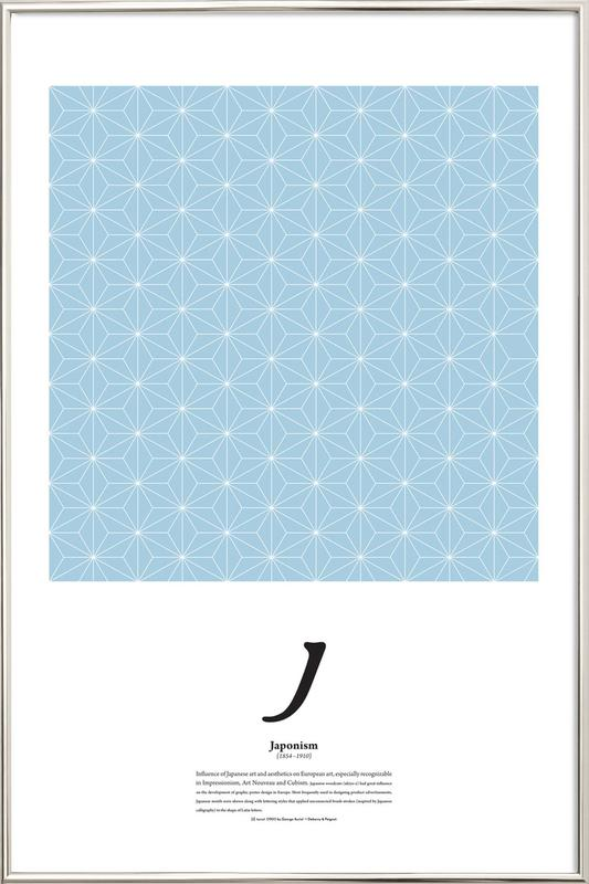 J - Japonism -Poster im Alurahmen