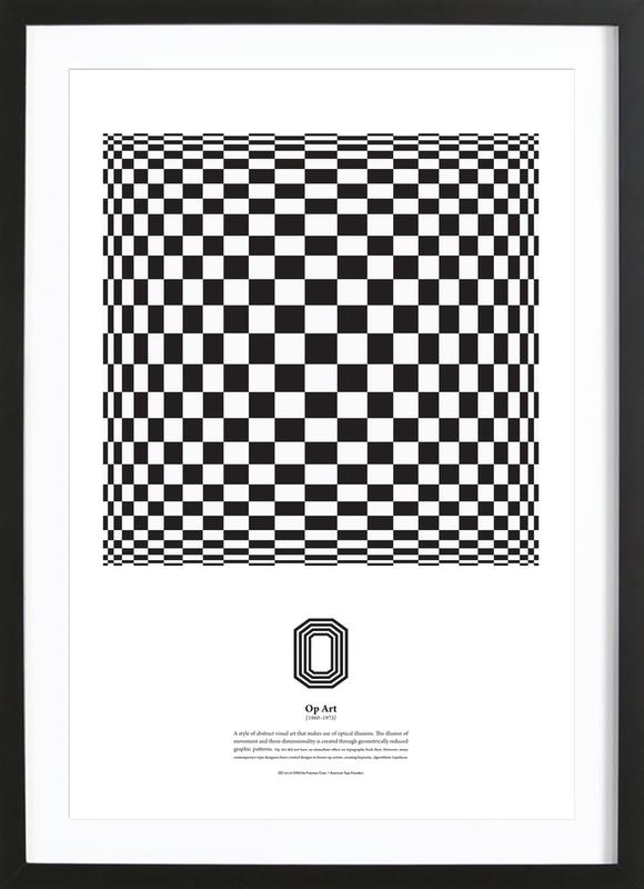 O - Op Art Framed Print