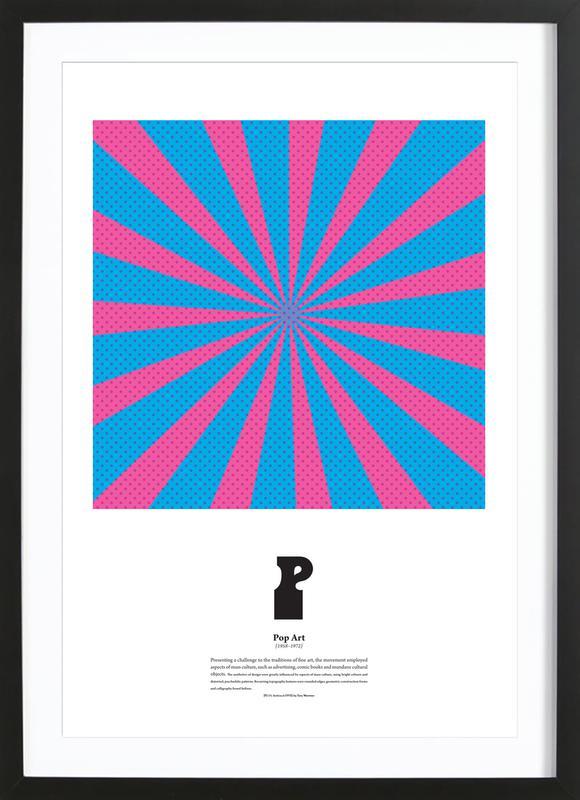 P - Pop Art Framed Print