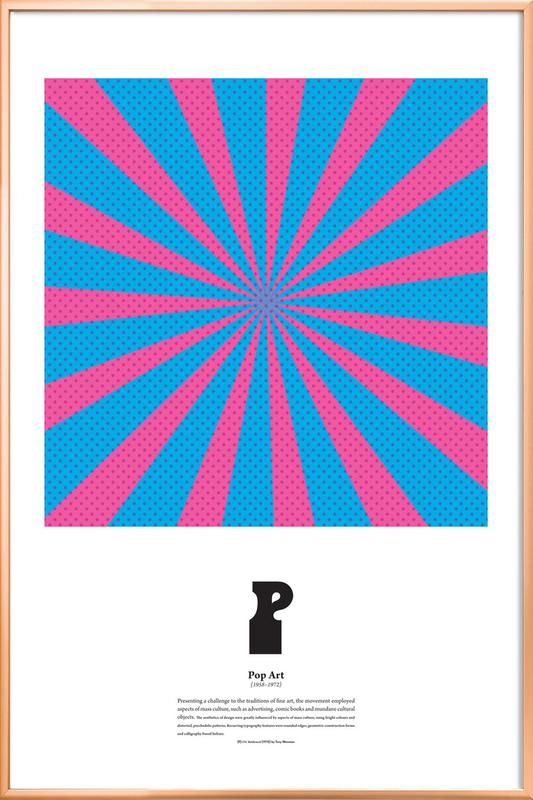 P - Pop Art -Poster im Alurahmen