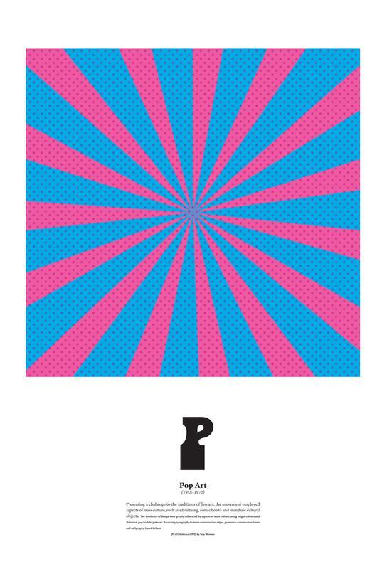 P - Pop Art Aluminium Print