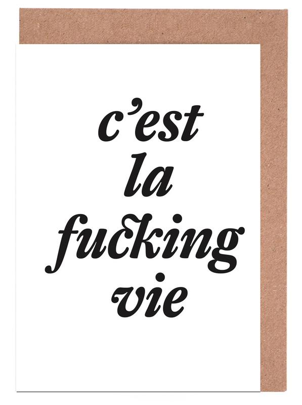 c'est la fucking vie Greeting Card Set
