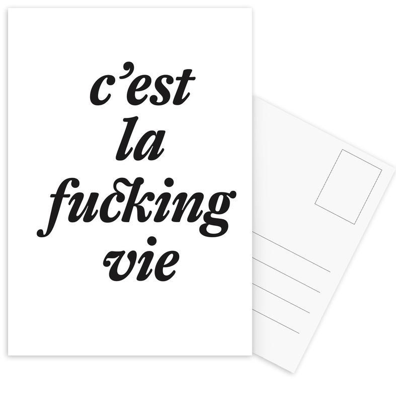 c'est la fucking vie Postcard Set