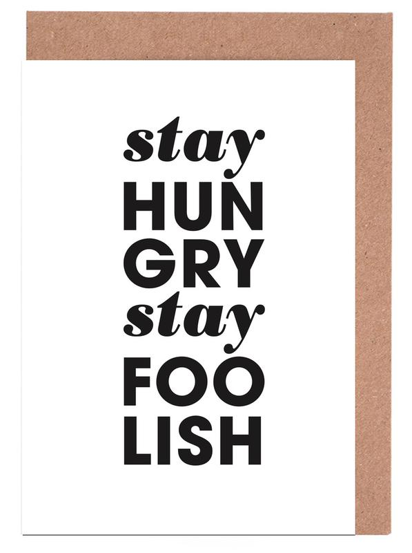 Stay Hungry Stay Foolish Steve Jobs cartes de vœux