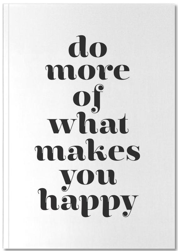 Zwart en wit, Motivatie, Quotes en slogans, Do More Notebook