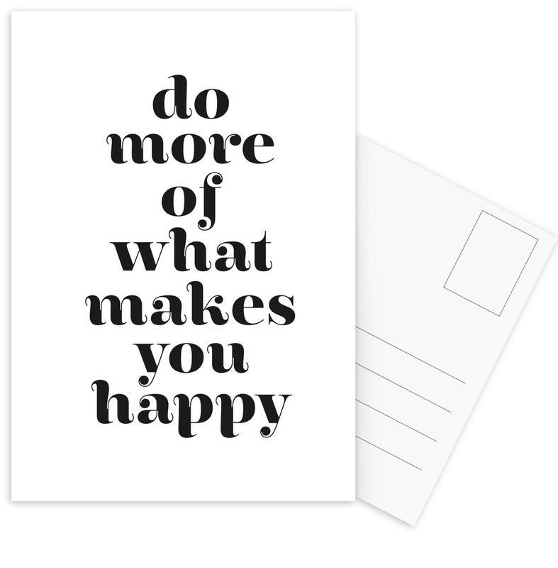 Black & White, Motivational, Quotes & Slogans, Do More Postcard Set