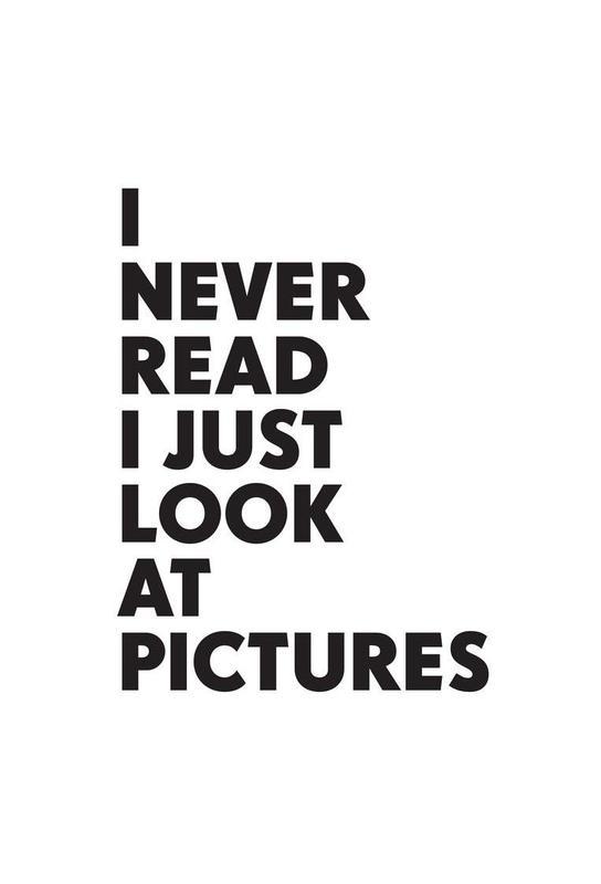 I never read Acrylic Print