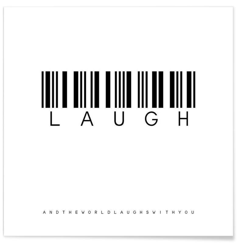 Noir & blanc, Motivation, Barcode LAUGH affiche