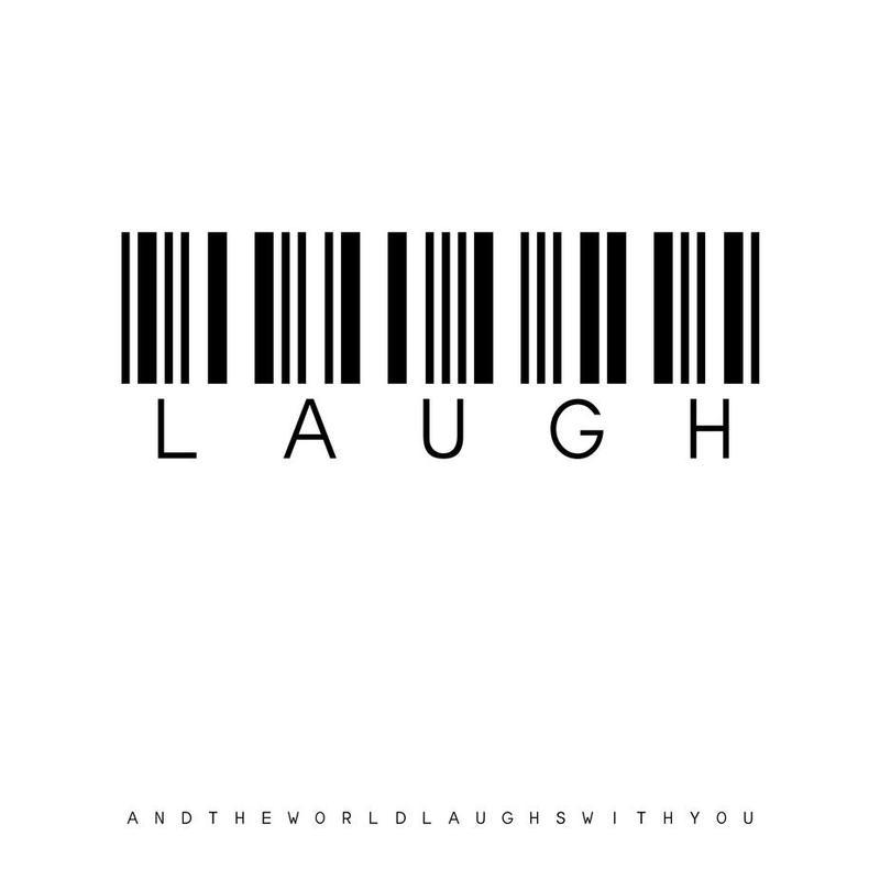Barcode LAUGH Acrylic Print