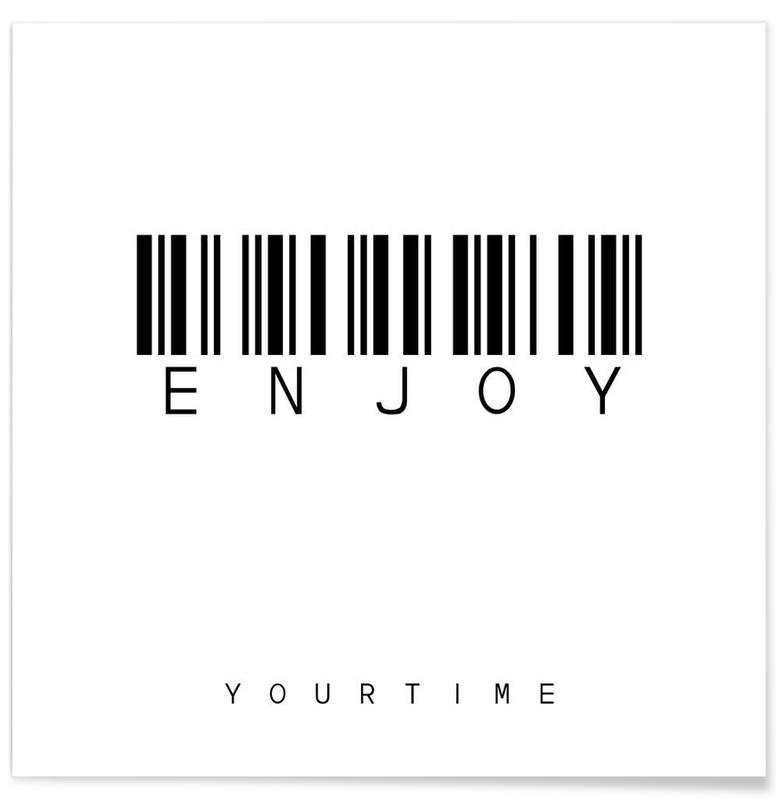 Noir & blanc, Motivation, Barcode ENJOY affiche