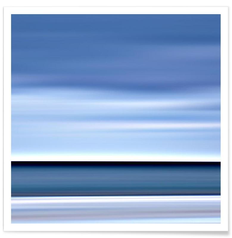 Océans, mers & lacs, Watercolor – SeeStück No.04 affiche