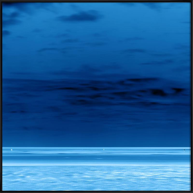 Night Beach -Bild mit Kunststoffrahmen