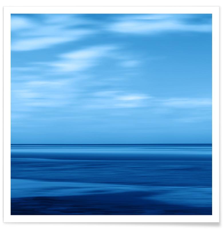 Seascape Blue Sky -Poster